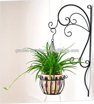 Garden Decor Metal Wall Plant Pot Hanging Basket Pots Wrought Iron
