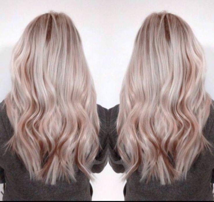 Blonde With Rose Gold Lowlights Hair Gold Blonde Hair Platinum