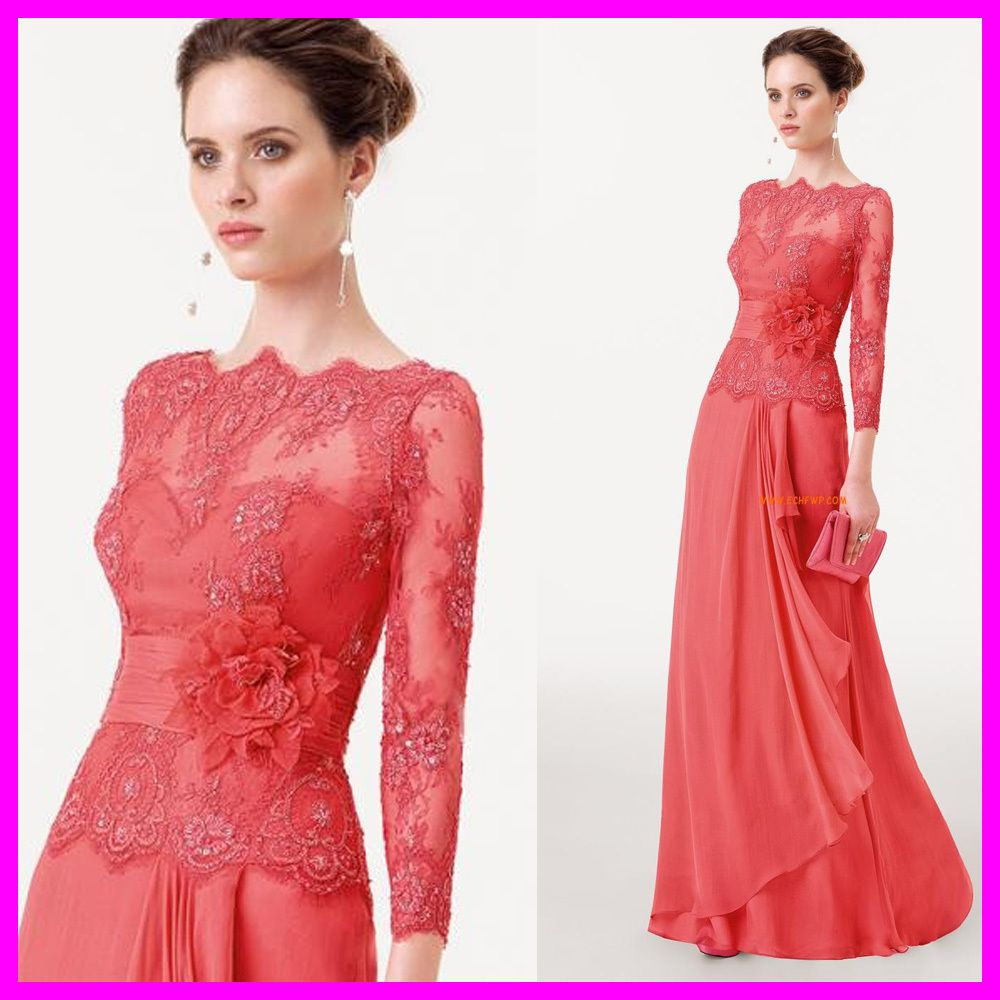 7ad523ea2174 Find More Mother of the Bride Dresses Information about Coral Mother Of The Bride  Lace Dresses With Flower Pant Suits Prom Evening Gowns Dresses Chiffon ...