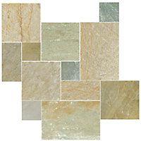 Baoding Crème Small Versailles Pattern Quartzite Floor Tile 9 99 Sq Ft Coverage 8 Per Box