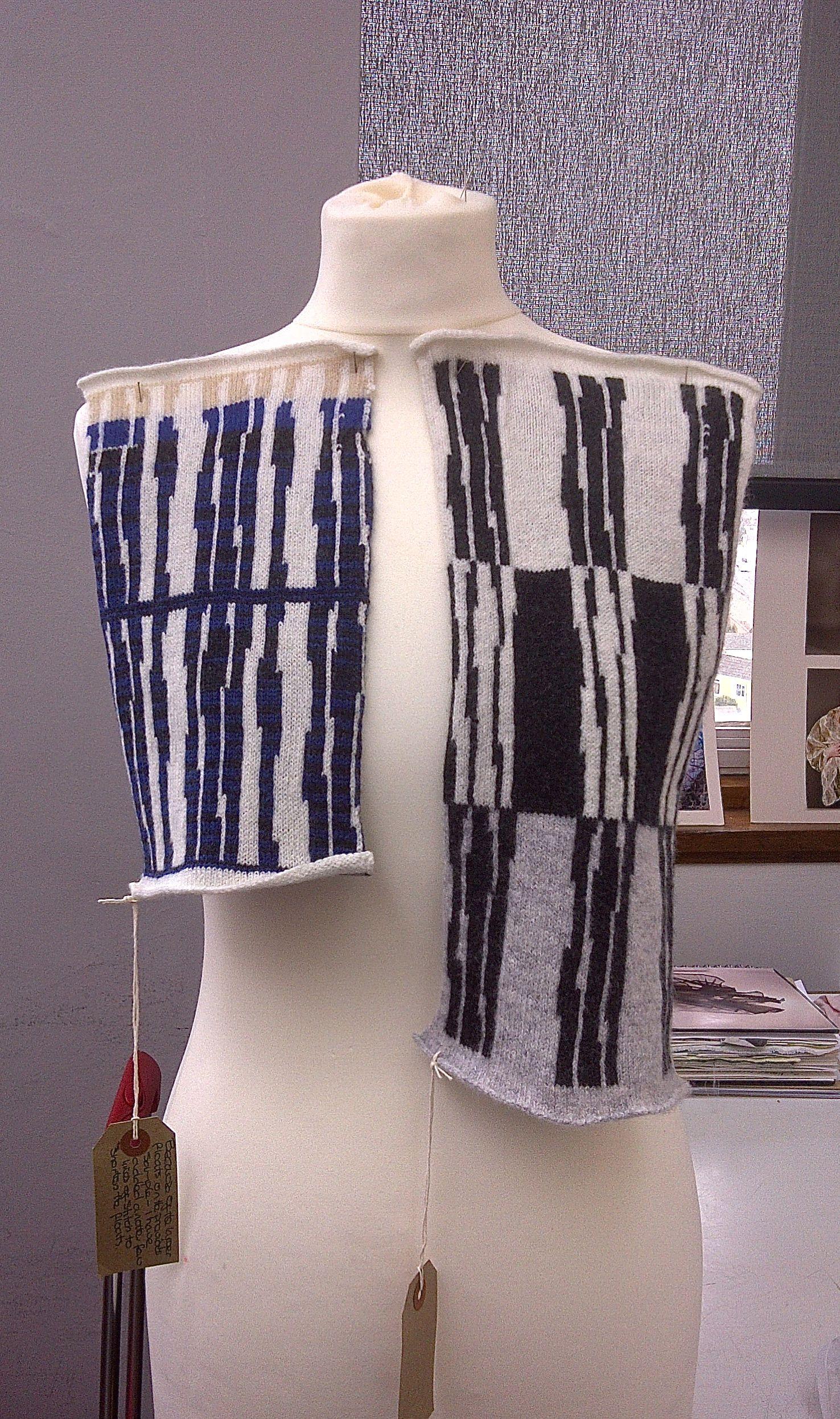 Sea inspired machine knit 2014