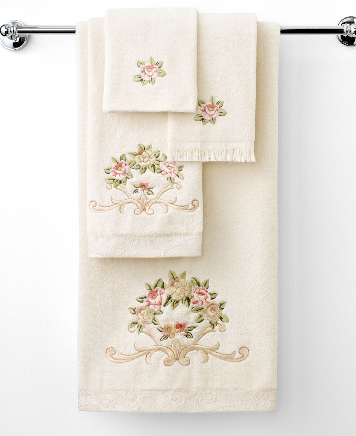 Avanti Rosefan Towel Collection Reviews Bath Towels Bed