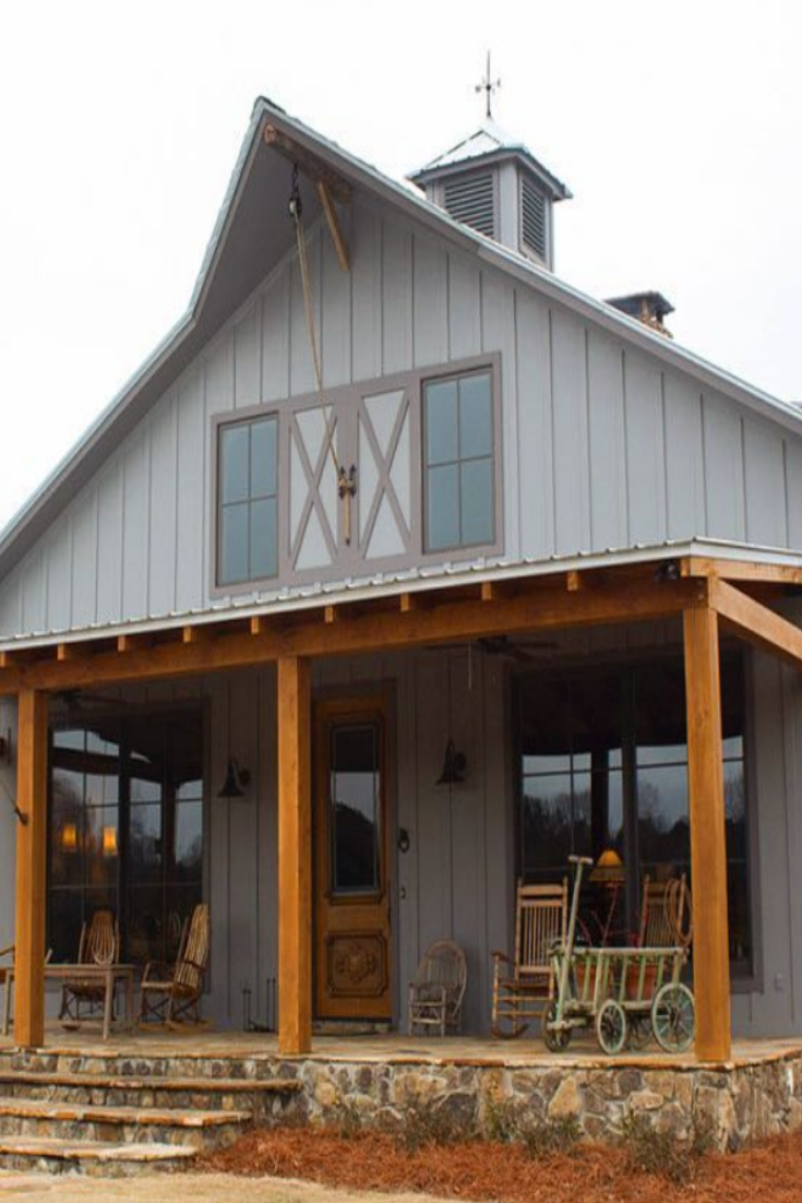 41 Pole Barn Homes Magical And Affordable Structure In 2020 Metal Barn Homes House With Porch