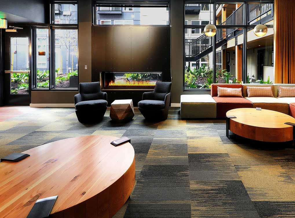 Relax in our stylish lobby replete with soft, earthy