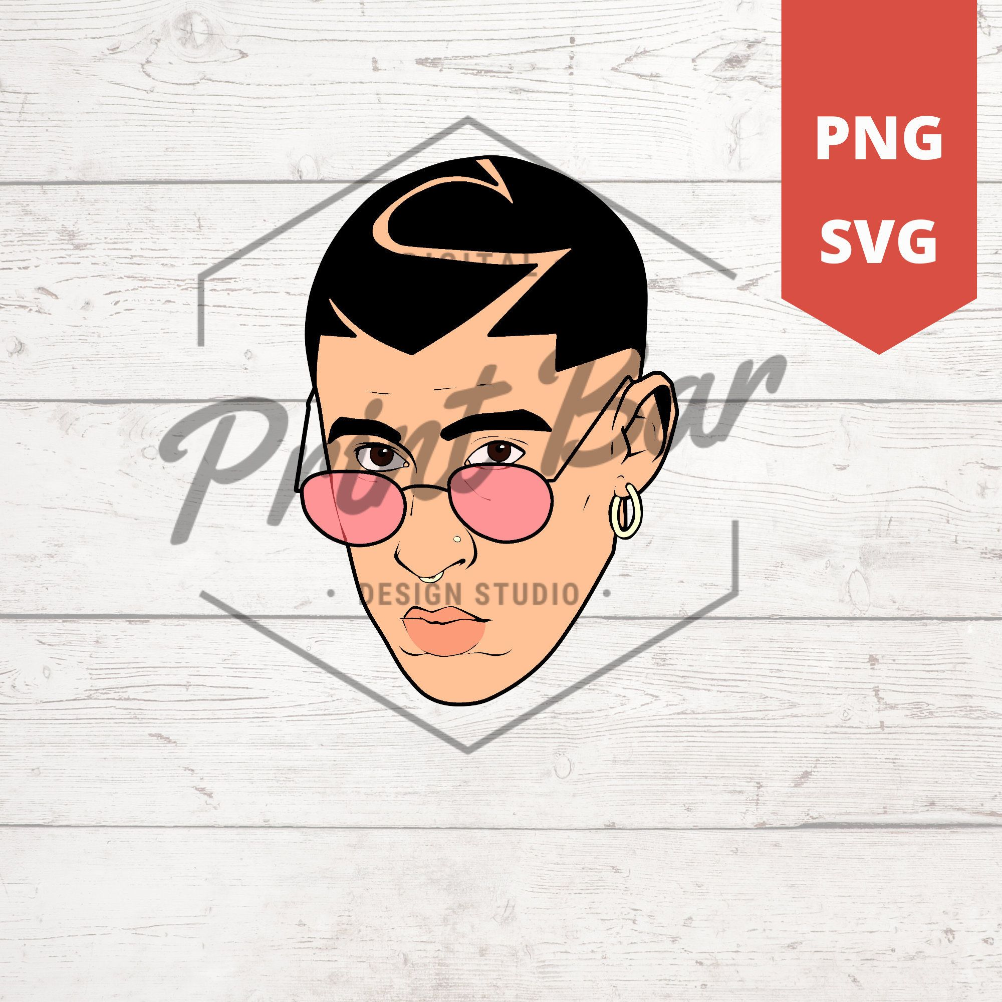 Bad Bunny face & logo SVG / PNG Etsy in 2020 Png, Svg