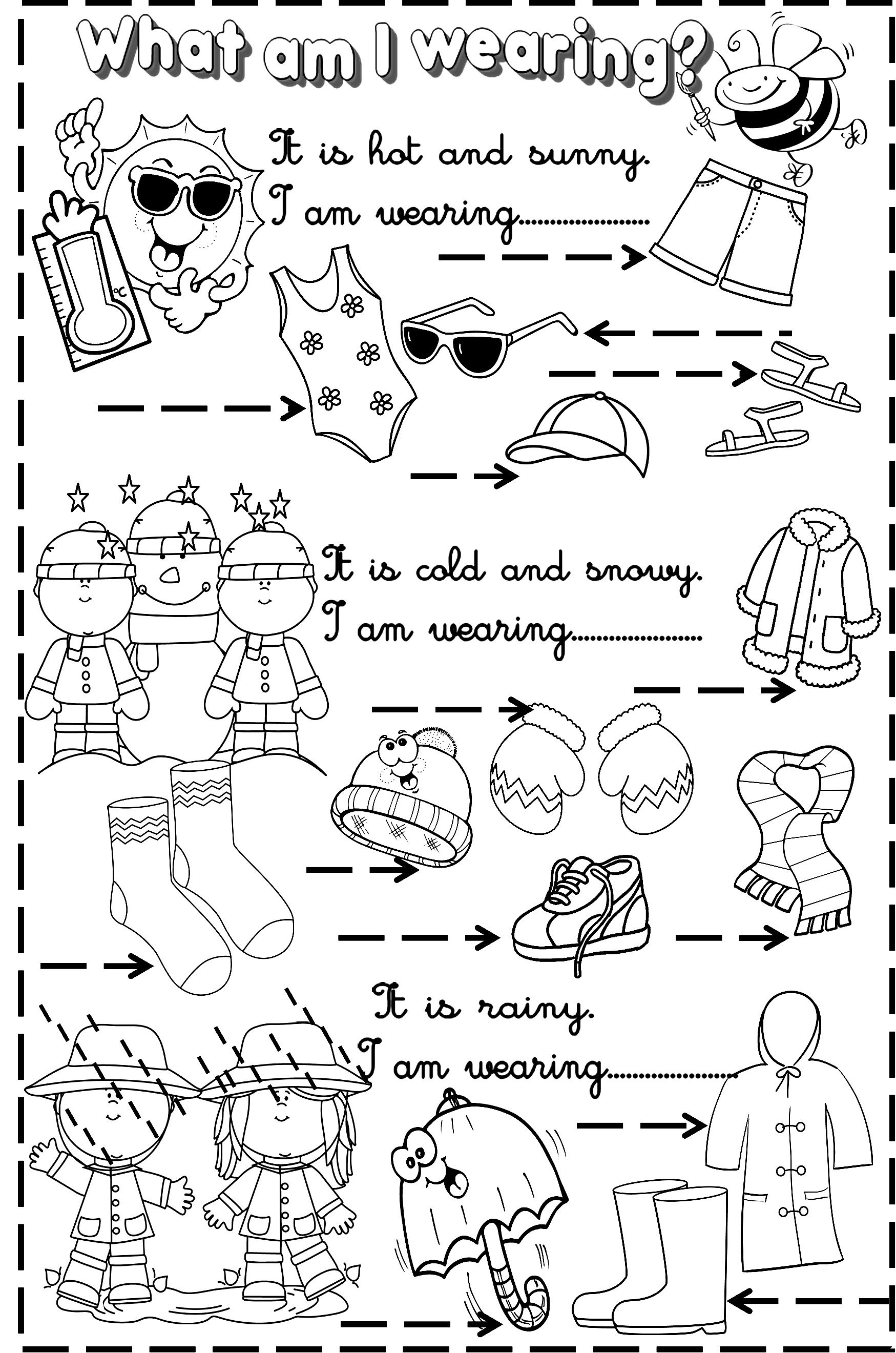 Weather And Clothes Esl Teaching Activities Pinterest Weather