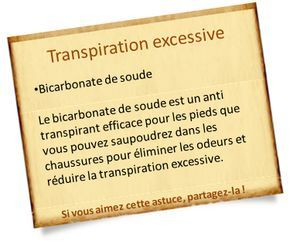 remede anti transpiration