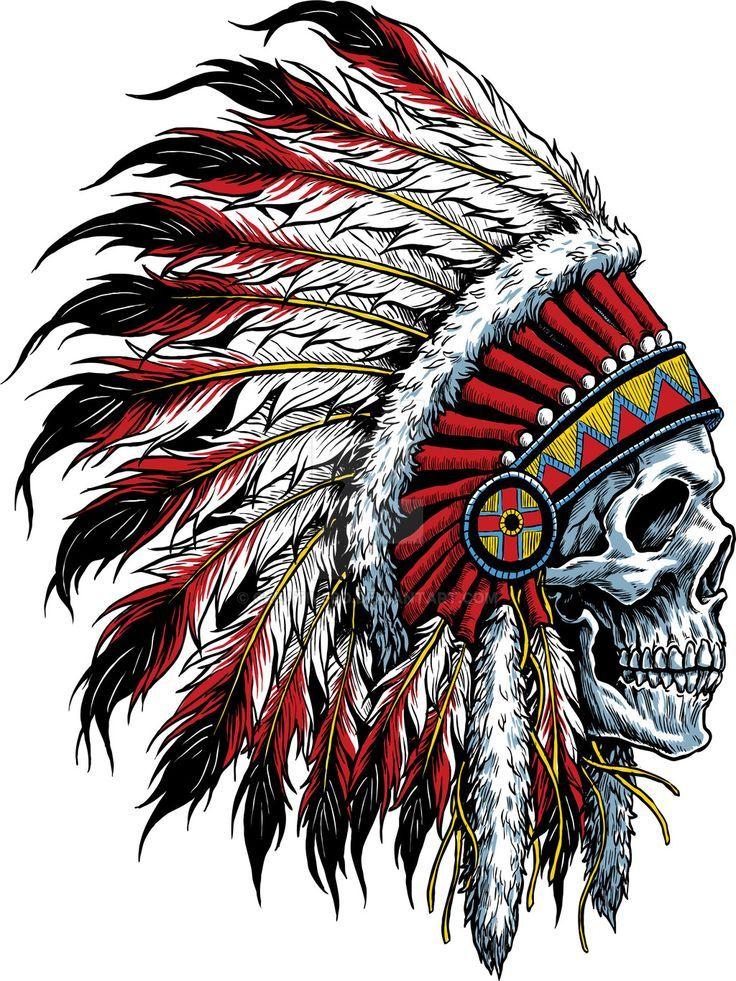 Pin By Shawn Champlin On Cool Stuff Indian Skull Art Skull border=