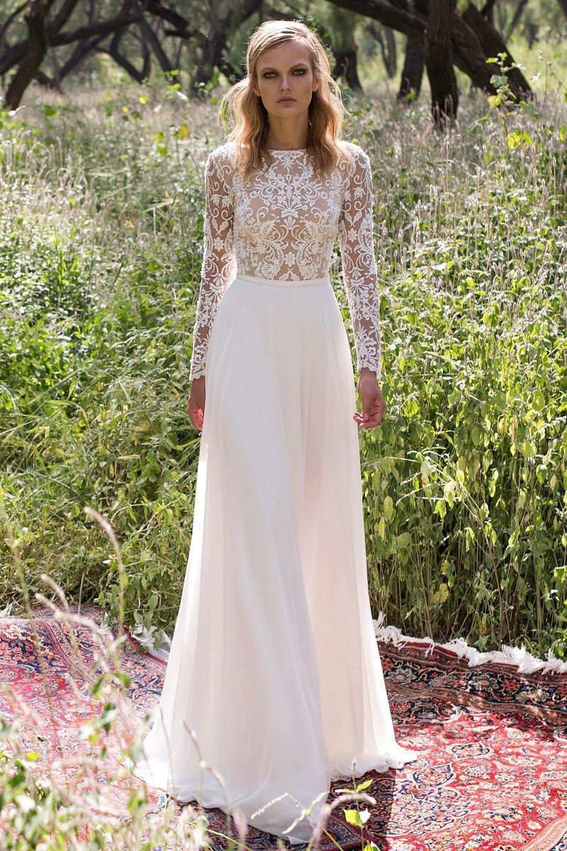 Bridal Fashion Week Wedding Dress Long Sleeve Wedding Dresses Lace Wedding Dresses [ 1200 x 800 Pixel ]
