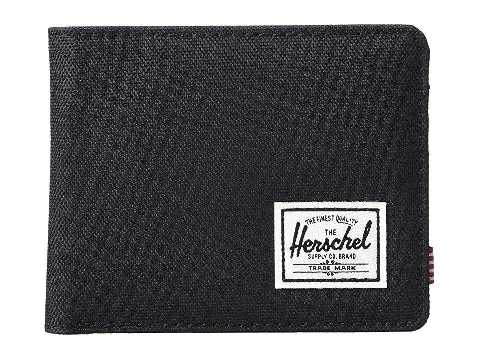 Herschel supply co roy rfid black wallet handbags over