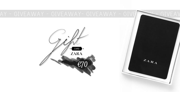 infinito mais um: BLOG RELATED | ZARA €70 Gift Card Giveaway