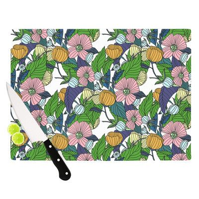 "East Urban Home Spring Foliage by Catherine Holcombe Cutting Board Size: 15.75"" W x 11.5"" D"