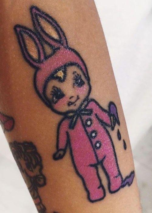 Black Baby Doll Tattoo: Melanie-martinez-bunny-doll-tattoo