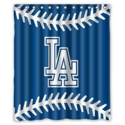 Fashion Press Flawless Gorgeous Creative MLB Los Angeles Dodgers Shower Retro Curtain 100 WaterProof Polyester Fabric 60 X 72 Inches Standard