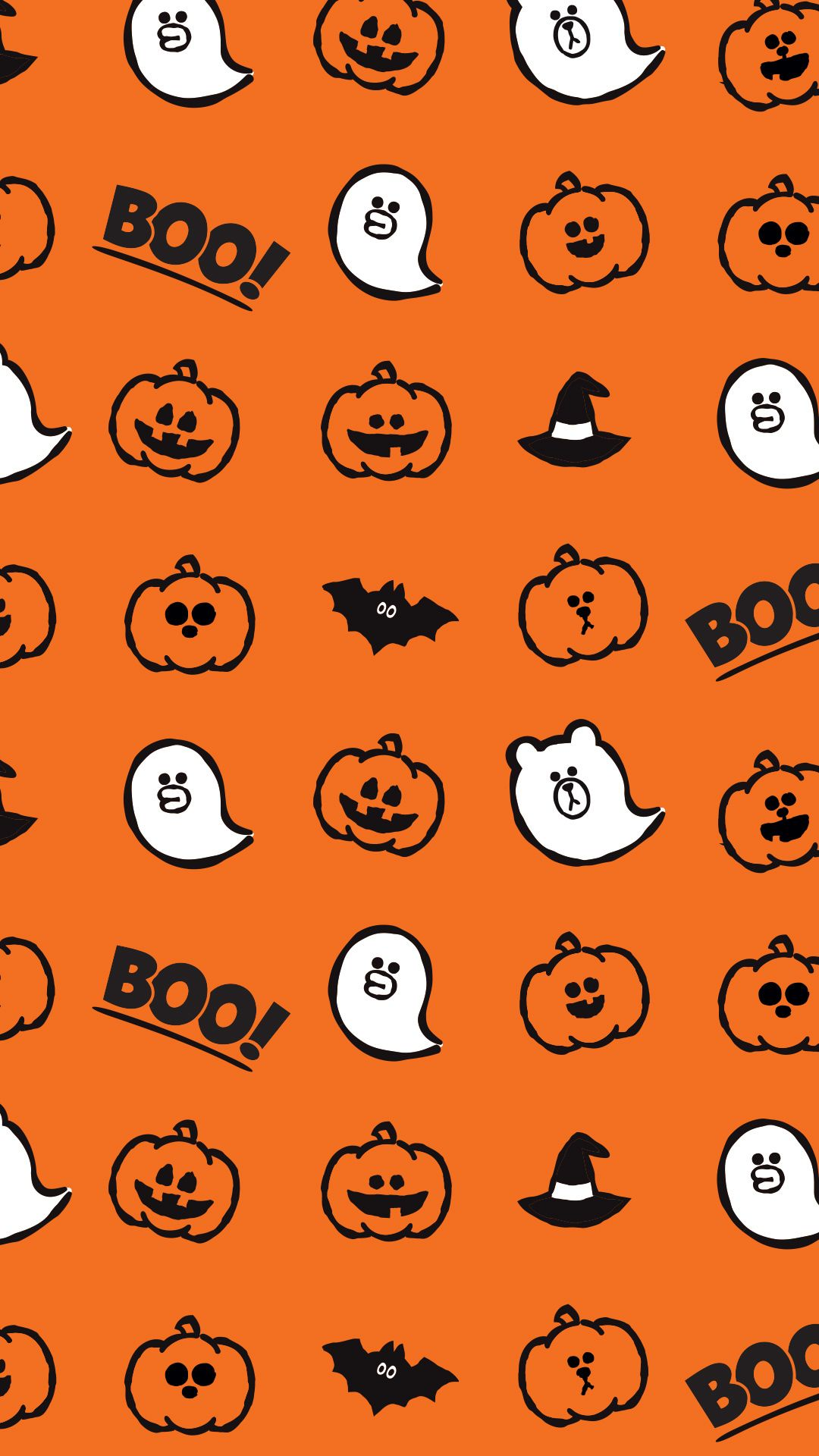 Linefriends Pic Gifs Pics And Wallpapers By Line Friends Line Friends Halloween Wallpaper Iphone Cute Halloween Pictures