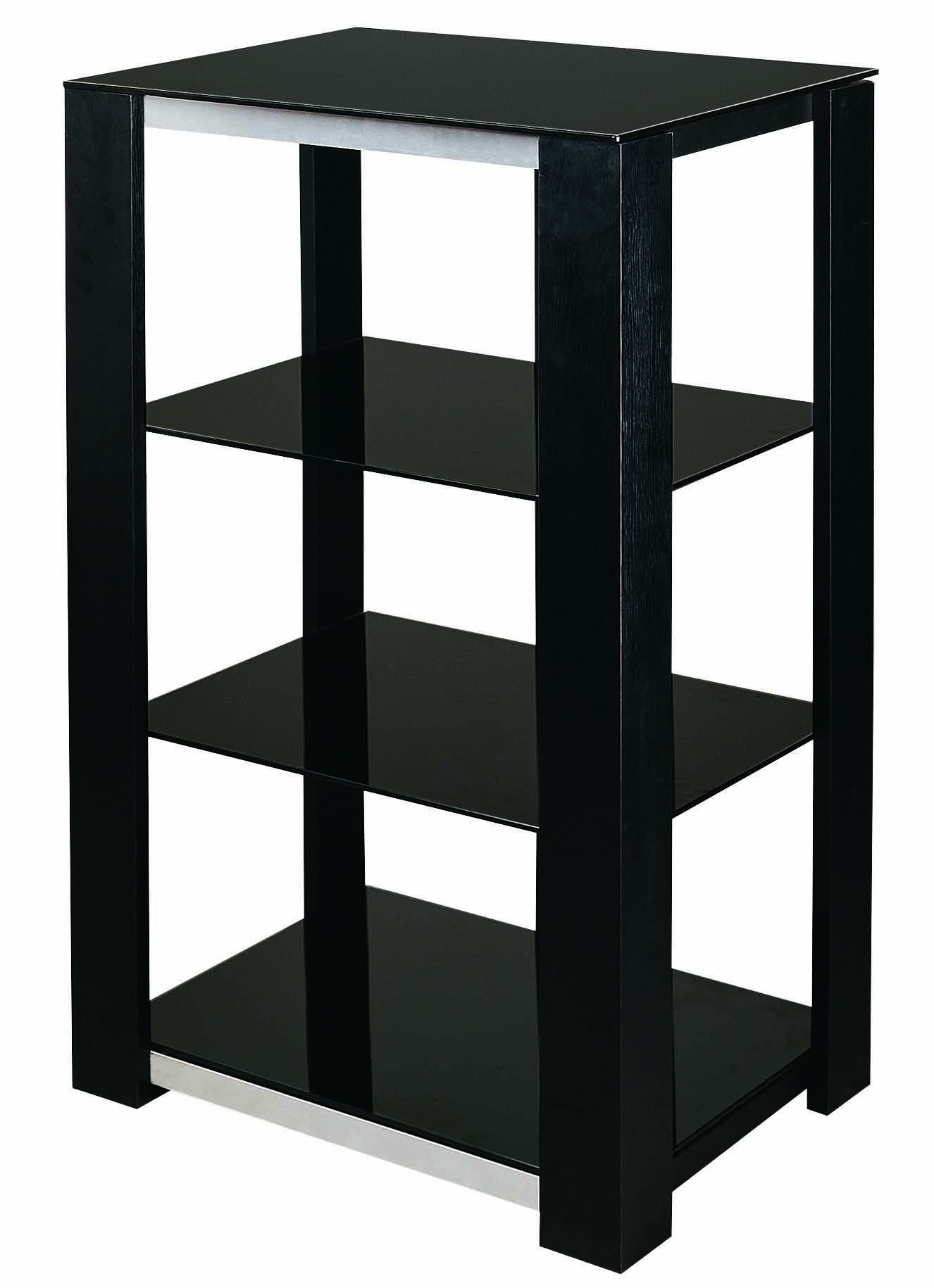 s hold 7 audio rack in black tempered black glass mdf board with rh pinterest com  audio video rack wiring