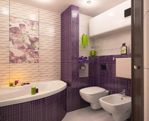 Плитка-мозаика для ванной комнаты: фото, дизайн, нюансы ...