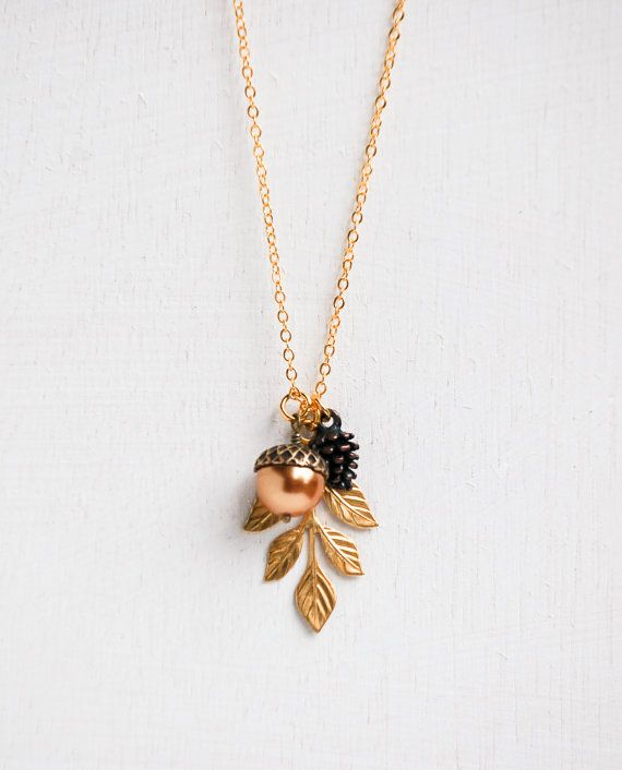 Pine Cone Jewelry Gold Pine Cone Necklace Pine Cone Charm Woodland Necklace Woodland Jewelry Rustic Necklace