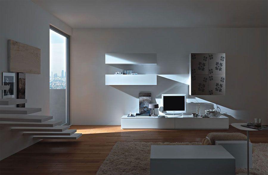 Pareti attrezzate moderne 70 idee di design per arredare casa pareti attrezzate pinterest - Pareti decorate moderne ...