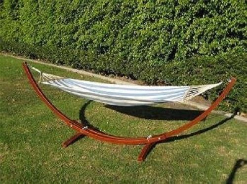 prosource wooden curved arc hammock stand w  hammock oak or cypress wood red wooden curved hammock stand hammock outdoor patio garden lawn      rh   pinterest