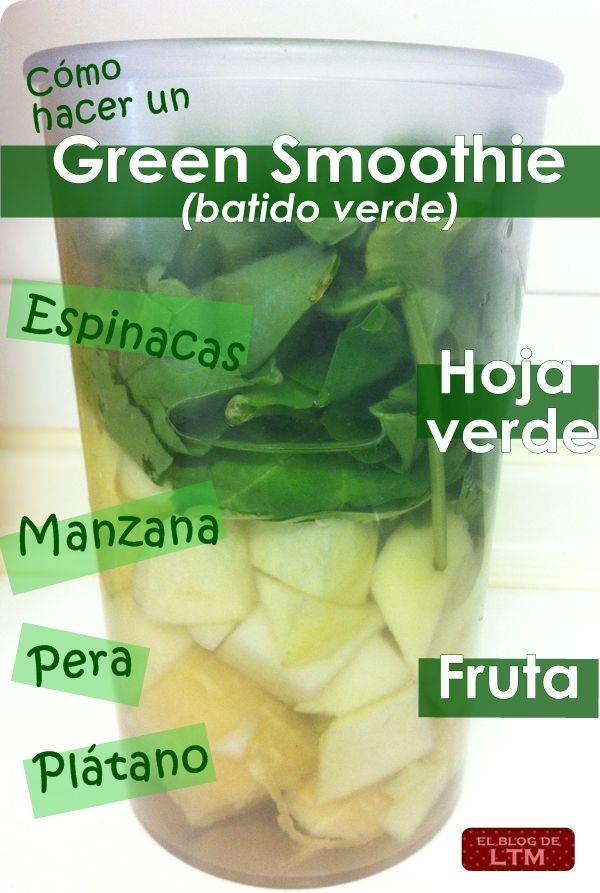 La receta de mi green smoothie: ¡riquísimo!