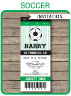 Printable Soccer Party Invitations Template  Miscellaneous
