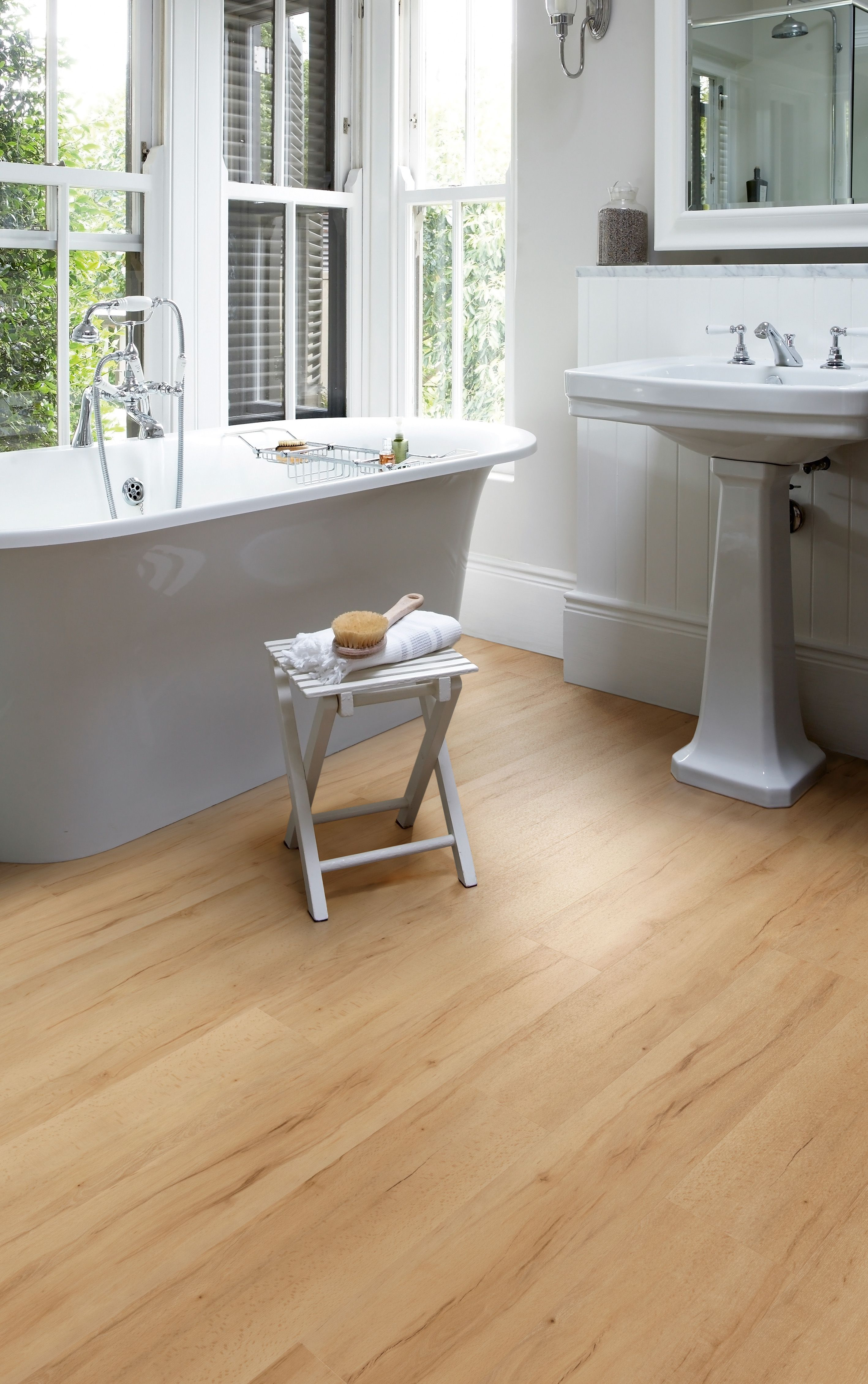 Summer maple looks fabulous in this warm and inviting bathroom camaro loc pu a collection of high design luxury interlocking vinyl flooring tiles ideal for all home interiors doublecrazyfo Choice Image