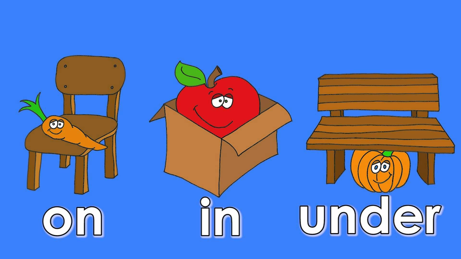 Where Is It Video Learning Prepositions On In Under