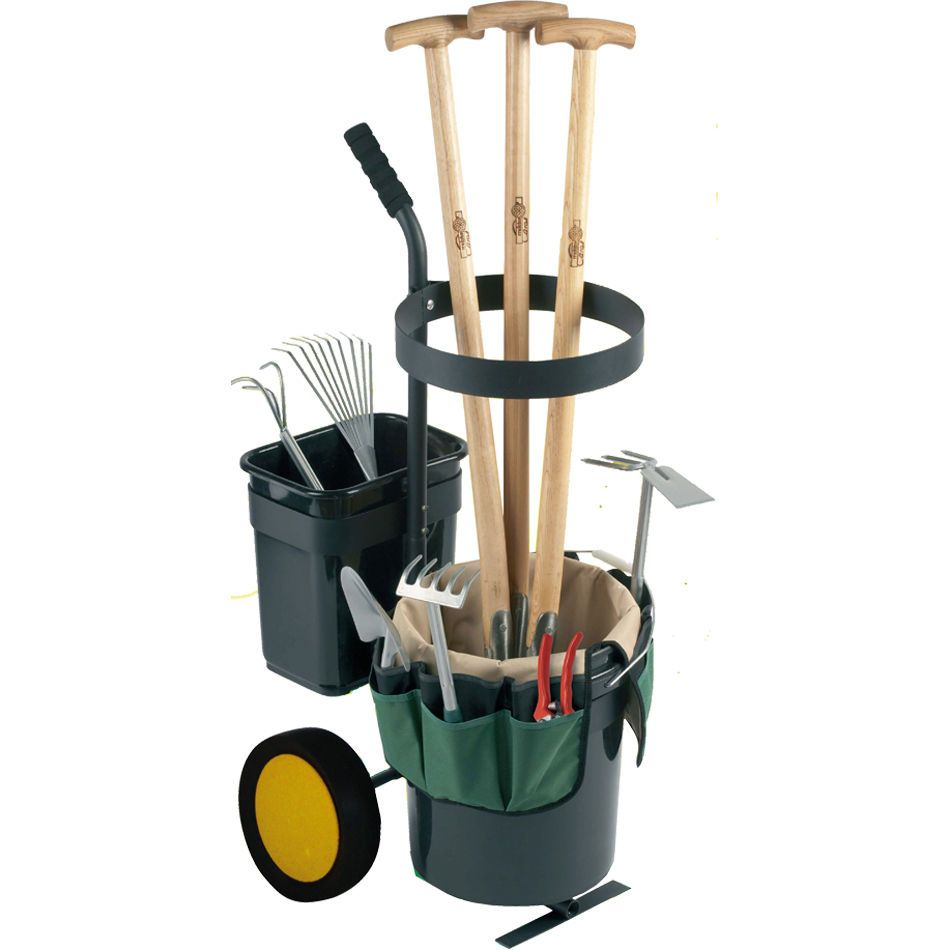Portable garden tool caddy cart tipping dump truck trailer for Gardening tools and equipment