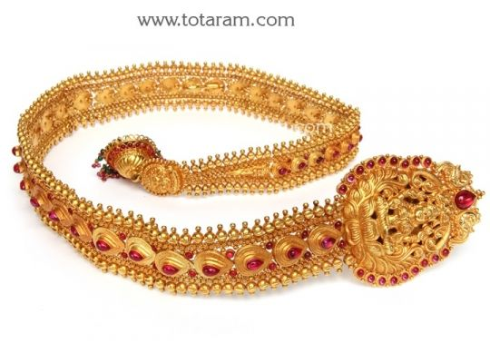 22K Gold Lakshmi Jada Gold Choti Gold Hair AccessoriesTemple