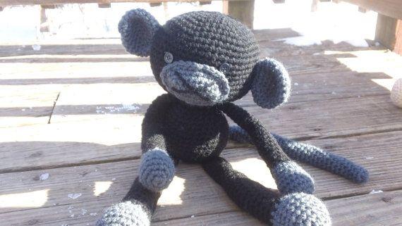 Monkey-Stuffed animal-Crochet-Handmade by CarolynLouiseCrochet