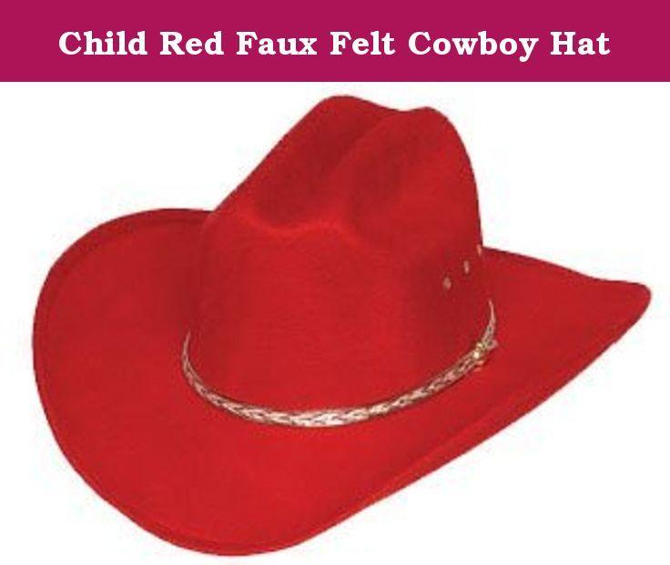 22cc9db9a Child Red Faux Felt Cowboy Hat. Red Children's Faux Felt Cowboy Hat ...