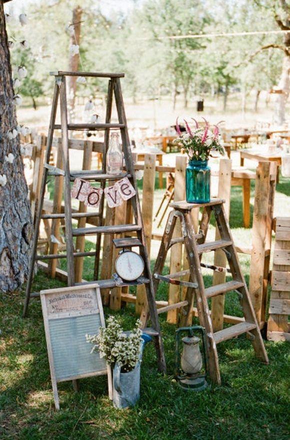 Ideas para decorar bodas con escaleras vintage (blog con ideas ...