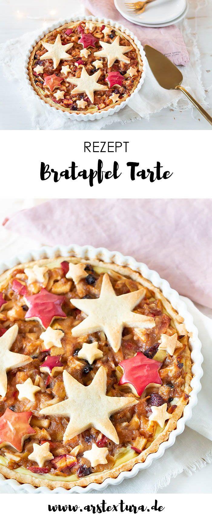 Weihnachtliche Bratapfel Tarte mit Sternen | ars textura – DIY-Blog