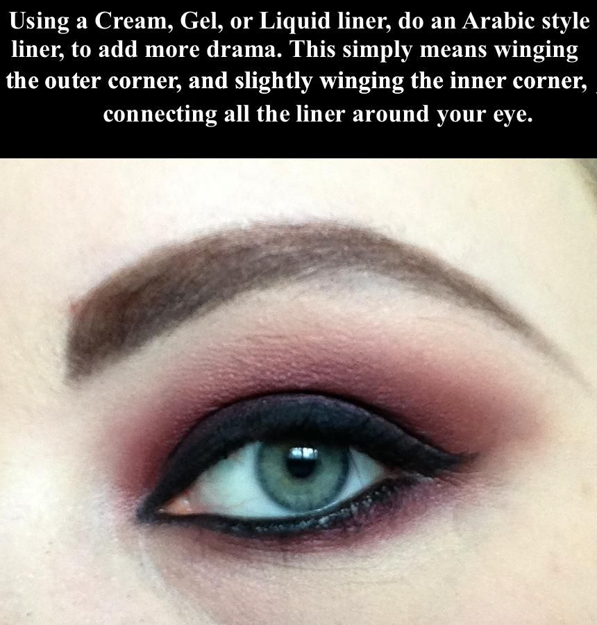 Vampy Red Eyes Makeup