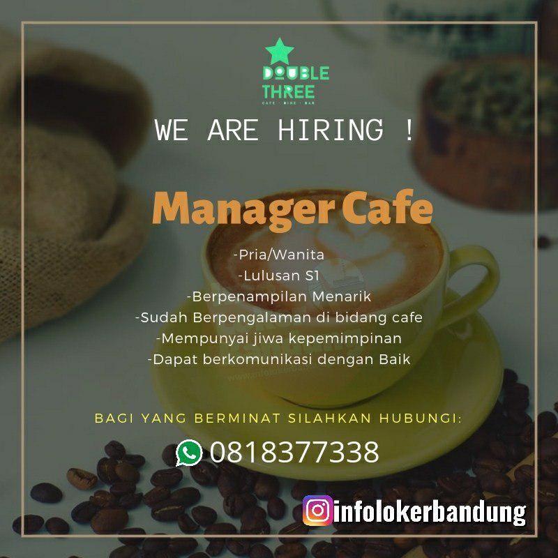 Lowongan Kerja Manager Cafe Double Three Cafe Dine And Bar Bandung