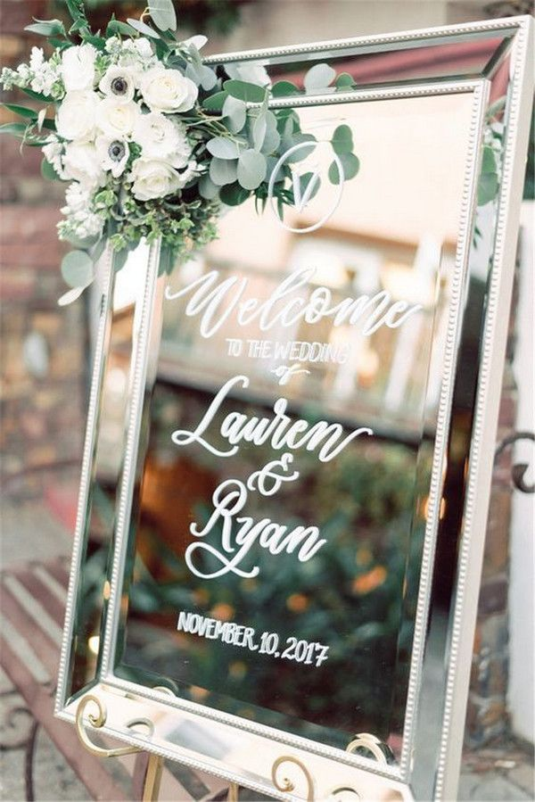 20 Chic Wedding Welcome Signs Youll Love