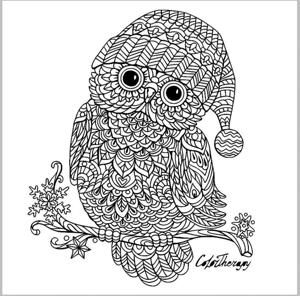 Owl Zentangle Owl Coloring Pages Animal Coloring Pages Coloring Books