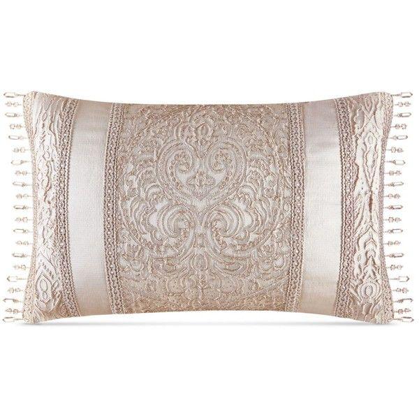 "J Queen New York Renaissance 15"" x 20"" Boudoir Decorative Pillow (€33) ❤ liked on Polyvore featuring home, home decor, throw pillows, sand, lumbar throw pillow, beaded throw pillows and textured throw pillows"