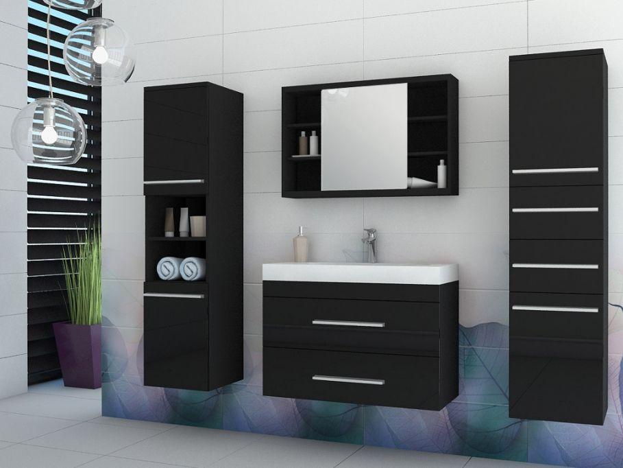 Ensemble MARYLIN pas cher meubles de salle de bain - noir prix