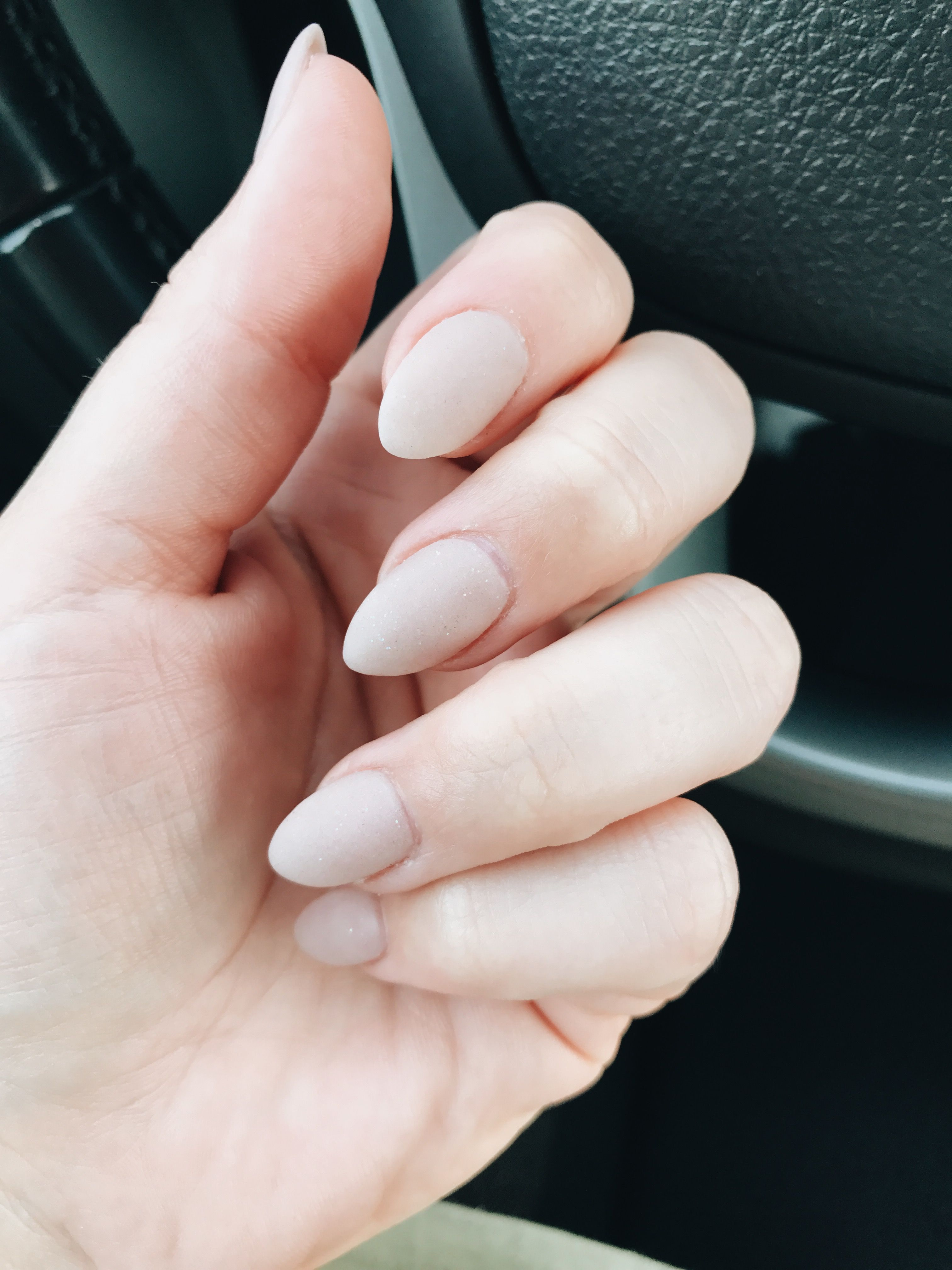 nude matte almond nails | all things daaaang | Pinterest | Almond nails