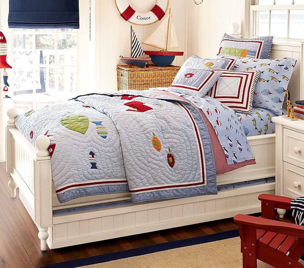 "Pottery Barn Kids ""Conor"" Bedding Set Boy room, Kid beds"