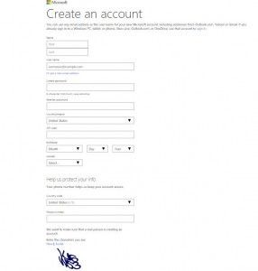 hotmail account sign up uk