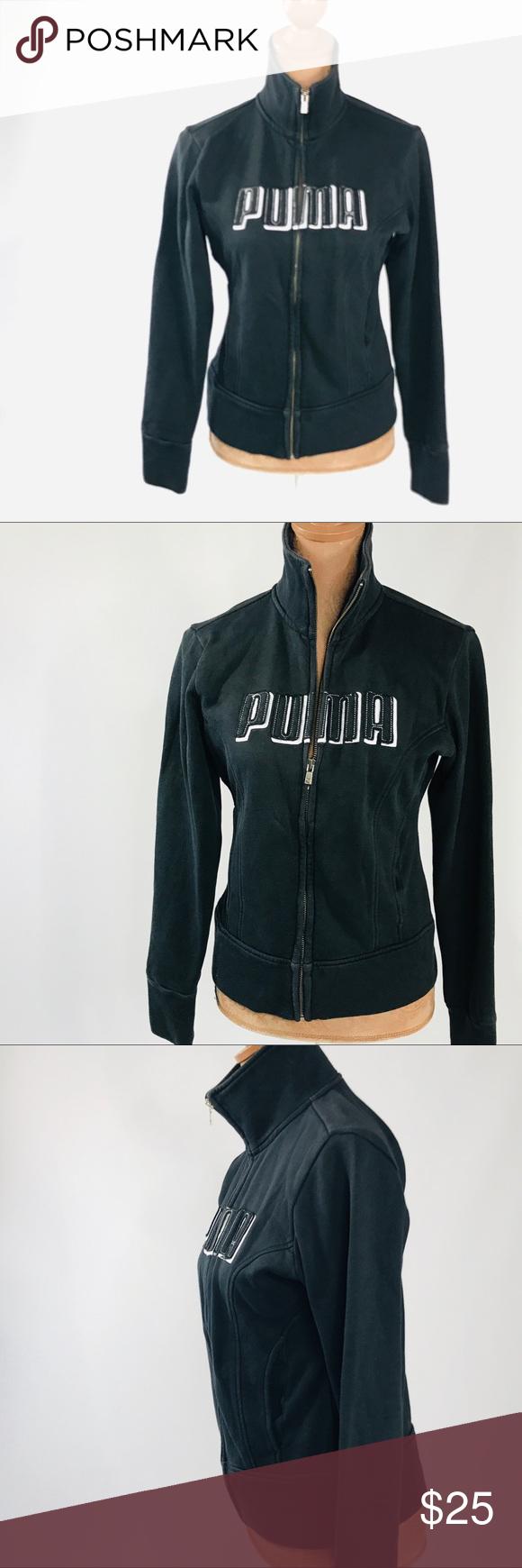 6816eb04cbfa I just added this listing on Poshmark  ❤ Puma Track Suit Jacket Small S  Logo Black Logo.  shopmycloset  poshmark  fashion  shopping  style  forsale   Puma ...