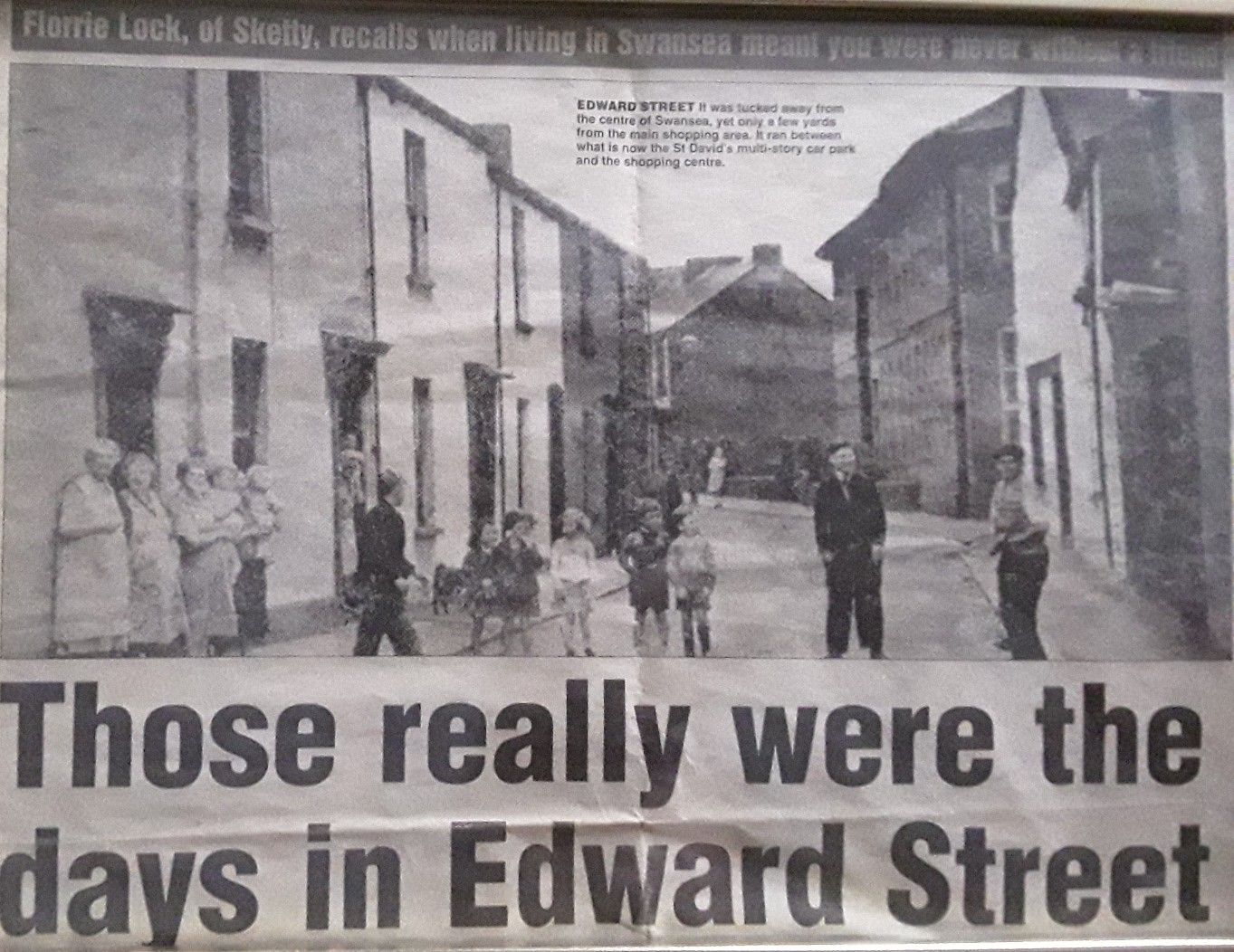 Edward St Swansea Now Long Gone It Was On The Site Of What Is Now St David S Multi Story Car Park 1940s My Mum Lived There As A Child With Images Swansea