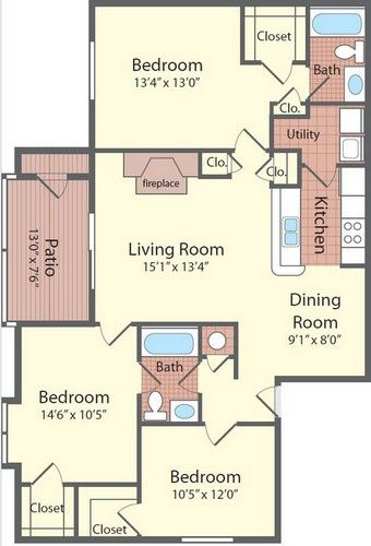 Twelve Oaks At Windermere In Orlando Fl Patio Room Apartment Communities Kitchen Fireplace