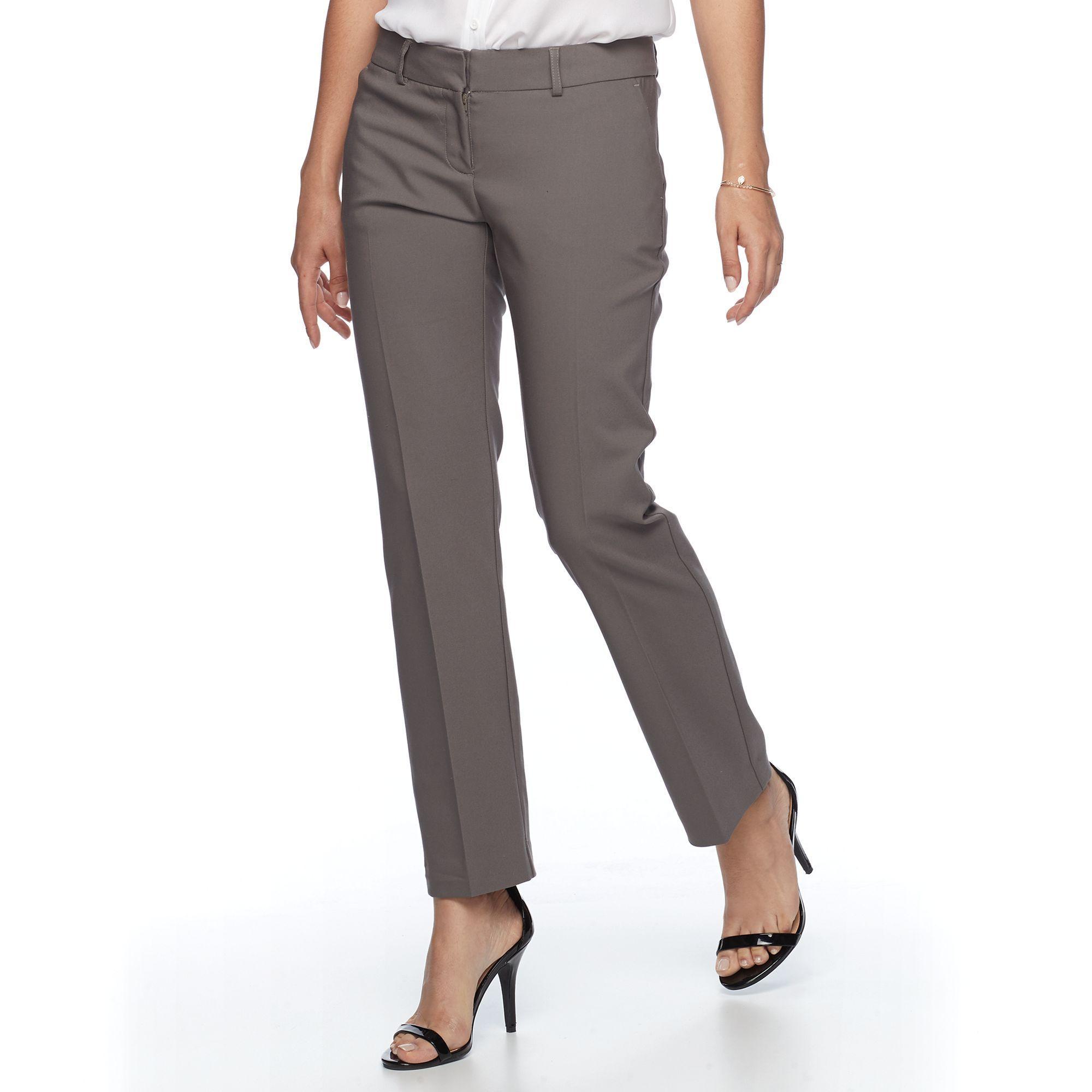 f56b14ead0b Petite Apt. 9® Torie Modern Fit Straight-Leg Dress Pants