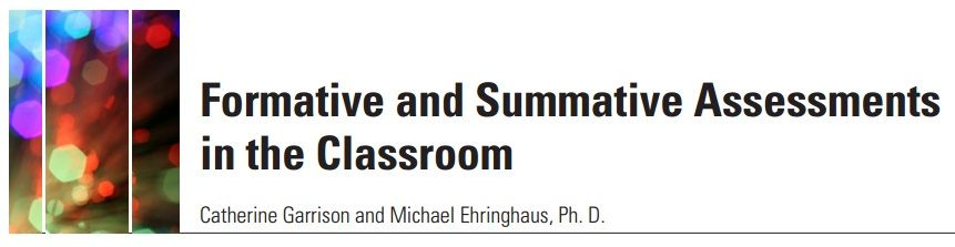 Great article with tips and resources on formative and summative
