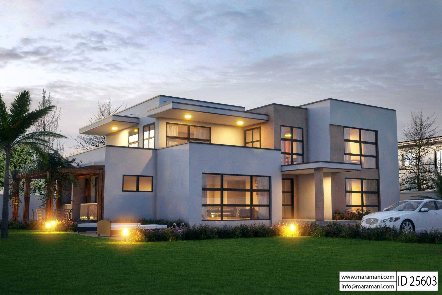 Modern 5 Bedroom House Design Id 25603 Floor Plans Modern
