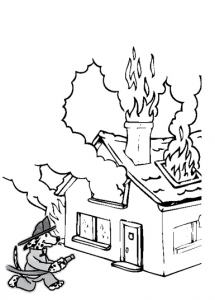 Fire Safety Coloring Page Book Activities Fire Safety Week Fire Safety